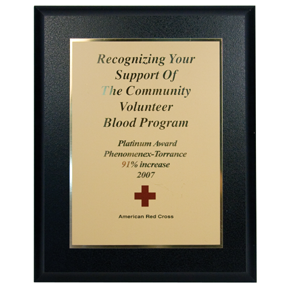 American Red Cross Platinum Special Recognition Award